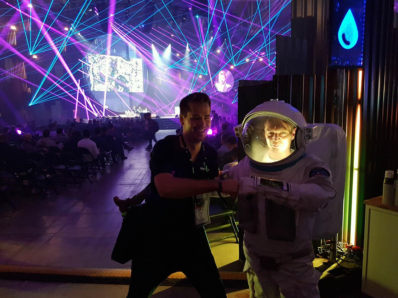 Slush experiences, Teemu and spaceman