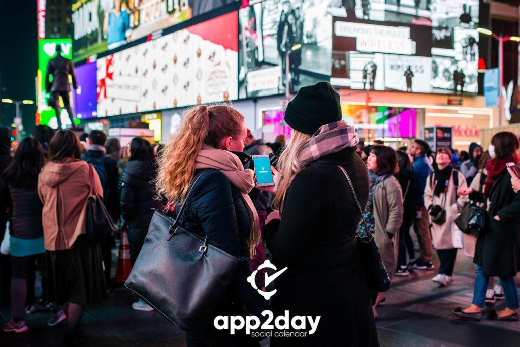 App2Day Social Calendar in America, New York